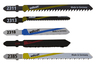 Jigsaw Blade Interior Works Project Set 5 Pcs., T-shank